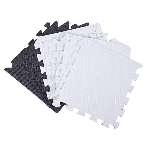 10 X 10 Interlocking Foam Mat And Black - 10x foam puzzle exercise mat interlocking floor tiles