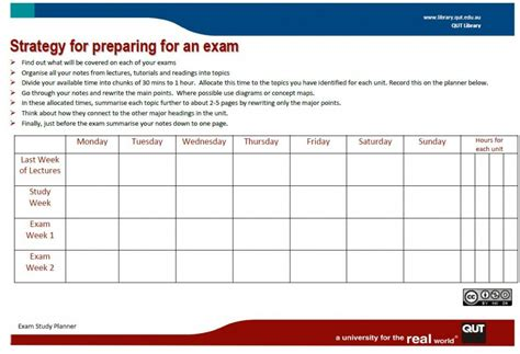 free printable exam planner get set for exams download a free study planner library