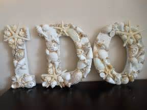 seashell decorations wedding decor seashells seashell letters beac