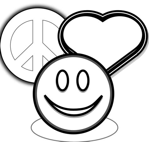 Clipartist Net 187 Clip Art 187 Peace Love And Happyness Black Coloring Pages Of Peace Signs