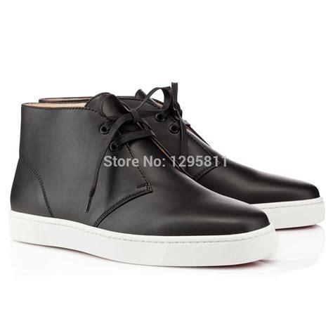black bottom sneakers bottom shoes high top black calf flat sneakers in