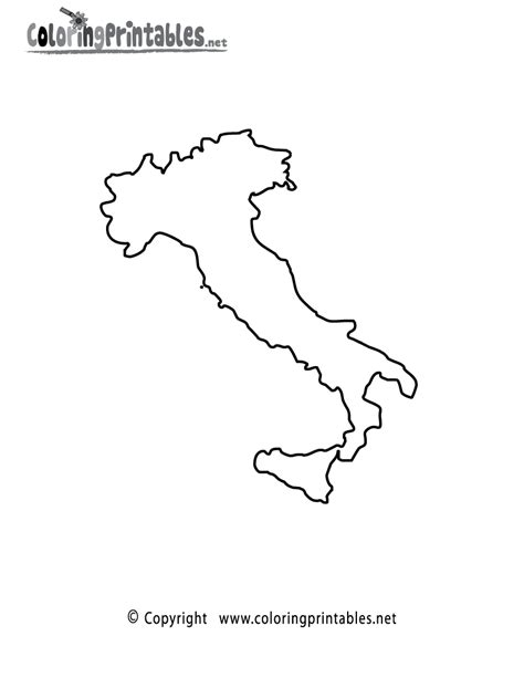 coloring page italy free map of italy coloring pages