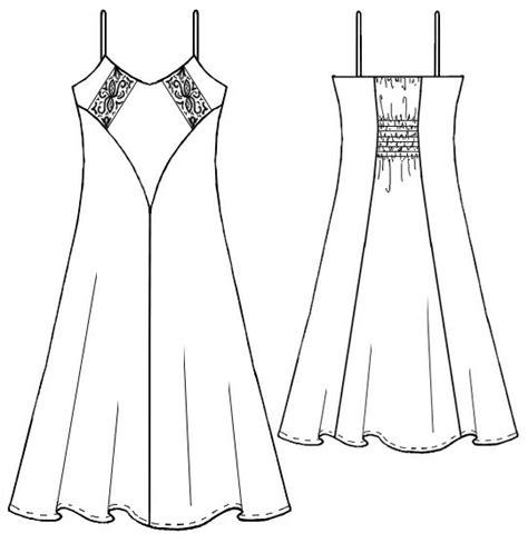 dress pattern nightdress nightdress sewing pattern 5249 made to measure sewing