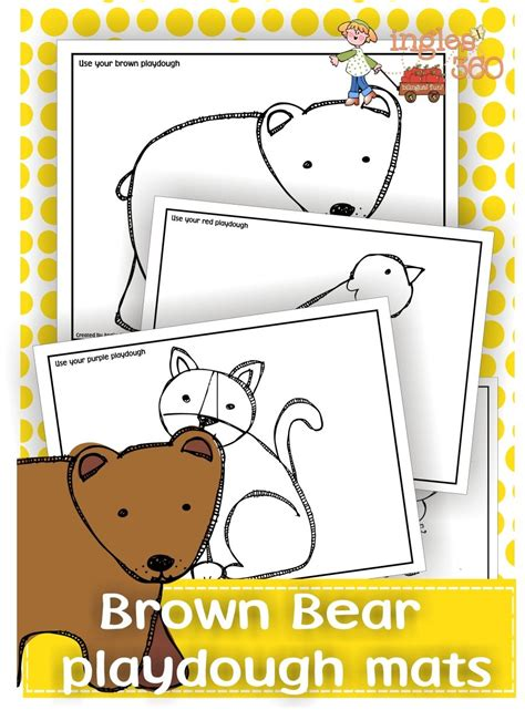 playdough mats booklet entire booklet printable free brown bear playdough mats free homeschool deals