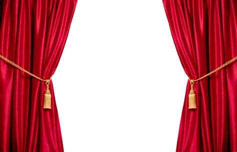 used auditorium curtains red stain theatre curtains with white copy space stock