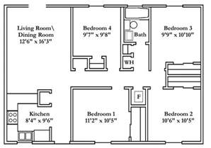 Small Home Plans With 4 Bedrooms Small 4 Bedroom House Plans Free Typical Floor Plans