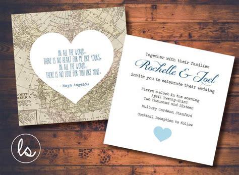 Wedding Invitation Map by Diy Printable Vintage Map Map Wedding Invitation