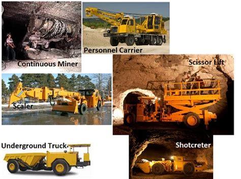 Alat Berat Tambang jenis jenis alat berat pada pertambangan bawah tanah