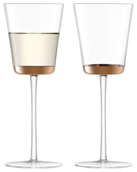 modern wine glasses lsa edge wine glasses set of 2 modern wine glasses