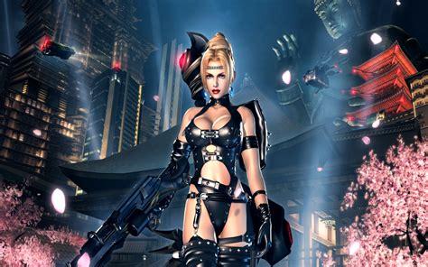wallpaper game hot ninja gaiden fantasy anime warrior weapon gun sexy babe g