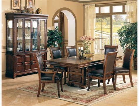 coaster 7 pc cherry wood dining room set table chairs