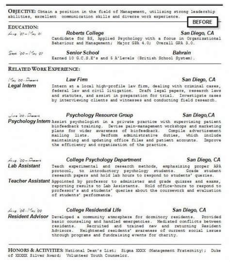 resume college resume objective statement
