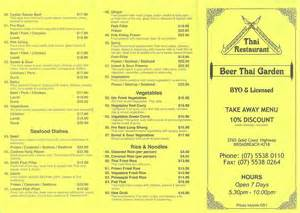 thai garden menu beer thai garden menu gold coast menu lane