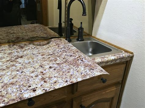 Vinyl Granite Countertop by Transform Your Countertops With A Diy Granite Counter