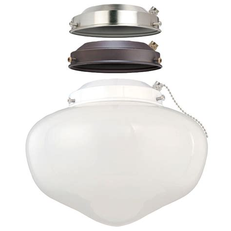 westinghouse ceiling fan light kit westinghouse 1 light schoolhouse ceiling fan light kit