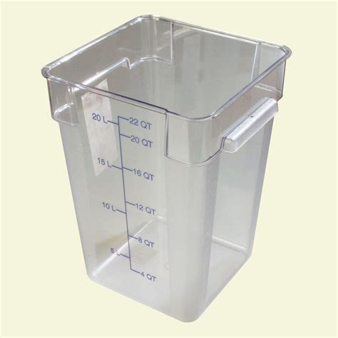 food storage container premium 5 gal food storage container 20 pack p9gl00fg the home depot