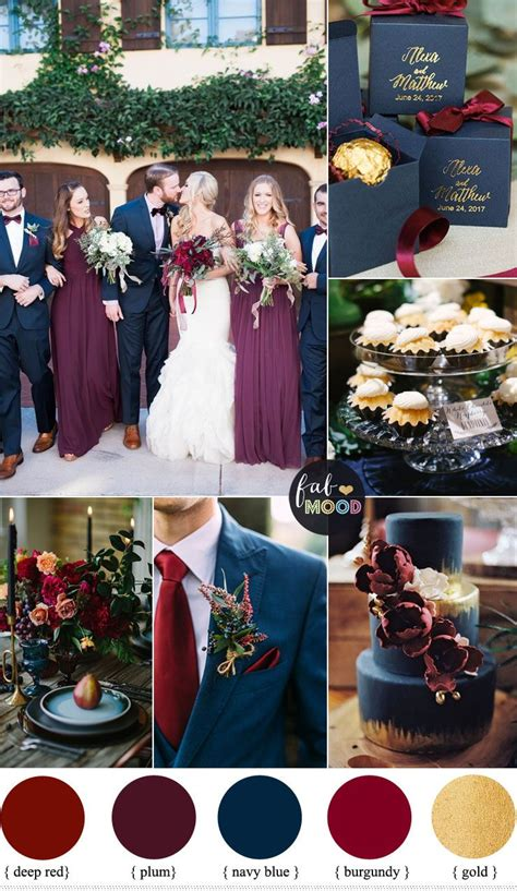themes about gold plum burgundy and navy blue wedding with gold accents for