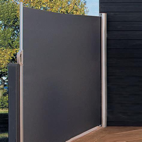 Bauhaus Sichtschutz Holz by Sunfun Mobile Seitenmarkise Anthrazit 3 X 1 6 M 7428