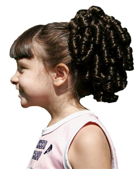 gfabke hair pieces in bsrrel curl cheer curl pony ponytail competition drawstring