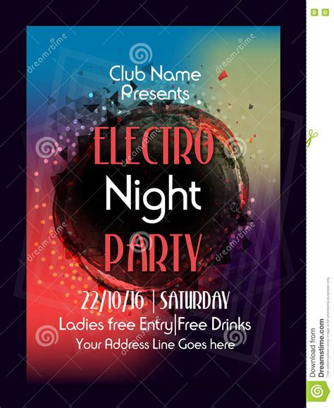 Design Banner Club | music party flyer template or banner design stock