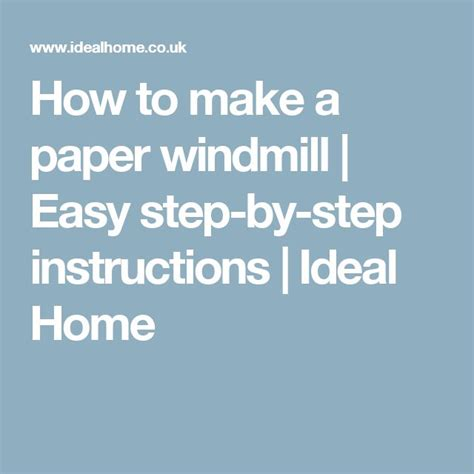How To Make A Paper Windmill Step By Step - 1000 ideas about paper windmill on paper