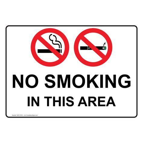 no smoking sign function no smoking in this area sign nhe 25185 smoking area