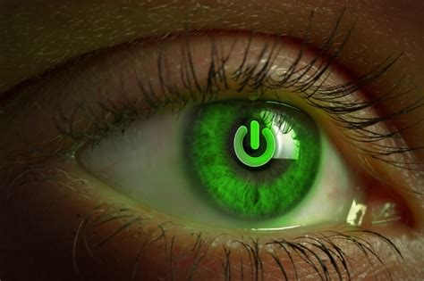 wallpaper of green eyes eyes green power button wallpaper