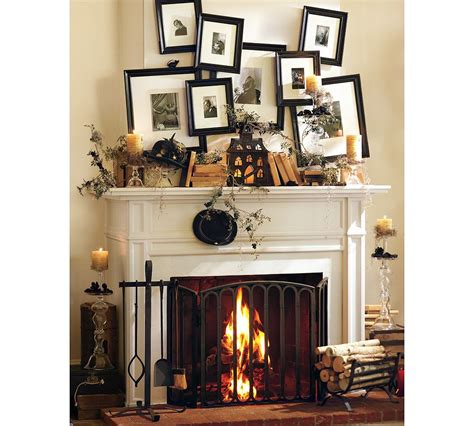 fireplace mantel decor ideas home 50 great halloween mantel decorating ideas digsdigs