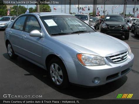 2004 Kia Spectra Lx Blue 2004 Kia Spectra Lx Sedan Gray Interior
