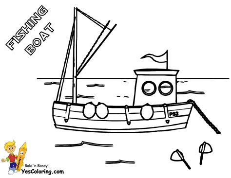 fishing boat coloring pages free coolest boat printables free boat coloring pages