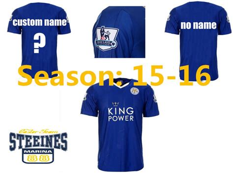 Jersey Multi Sport Leicester Home 15 16 leicester city home blue soccer jersey premier league shirts 2016 leicester football shirt