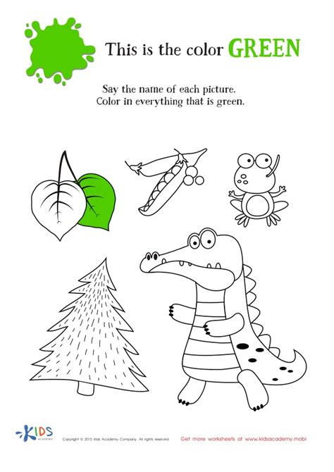 preschool coloring pages color green co color green preschool worksheets