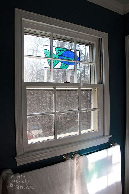 Bathroom Window Tint by Adding Wallpaper For Windows To Stop The Peep Show