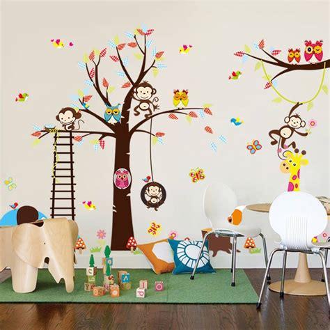 Merveilleux Stickers Elephant Chambre Bebe #4: Muursticker-boom-aap-uil-diertjes.jpg