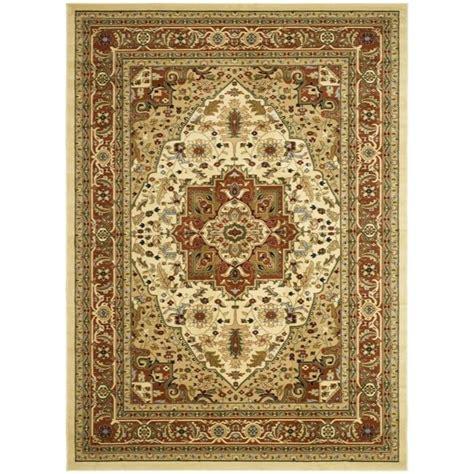 safavieh rugs overstock safavieh lyndhurst collection ivory rust rug 5 3 x 7 6