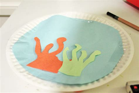 Paper Plate Aquarium Craft - aquarium paper plate crafts sea creatures crafts