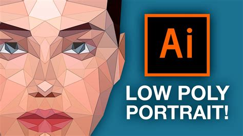 tutorial illustrator low poly illustrator tutorial low poly portrait youtube