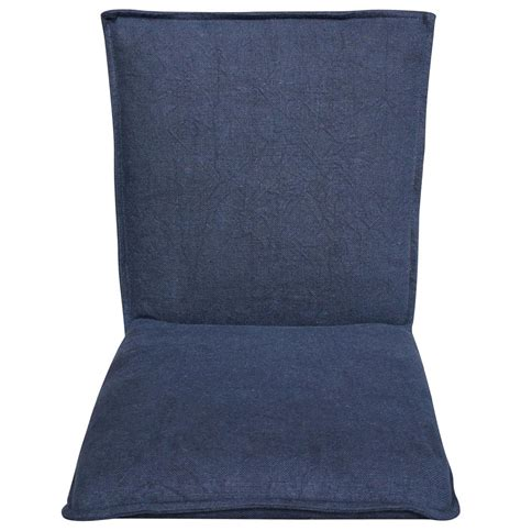 Navy Blue Slipcover by Lena Modern Classic Navy Blue Wrinkle Linen Slipcover
