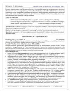Asset Management Resume Sample samples executive resumes professional cvs career