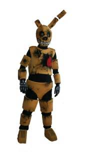 Cinq nuits 224 fnaf springtrap costume golden par oneandonlycostumes