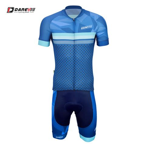 Jersey Sepeda Dryfit 01 aliexpress buy darevie blue summer breathable fit cycling wear jersey bib