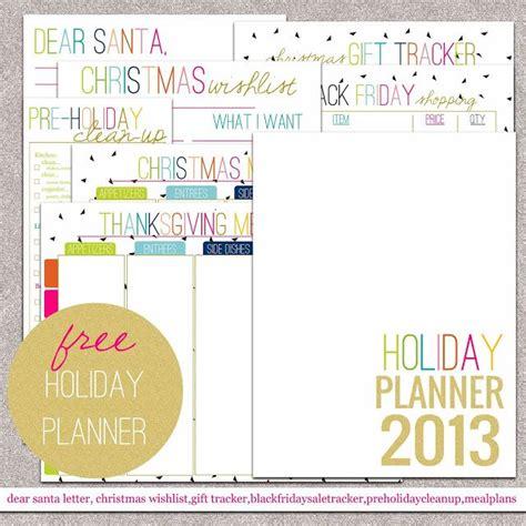 free printable holiday planner free printable holiday planner printables pinterest
