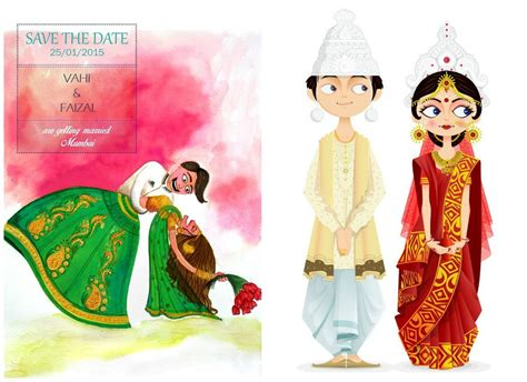 Make My Own Card Online - indian cartoon wedding invitations inspiration frugal2fab