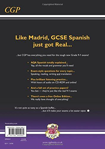 new gcse spanish aqa new gcse spanish aqa complete revision practice with cd online new book 9781782945482