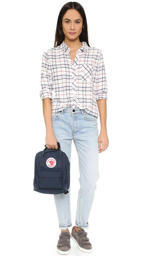 Kaos Fjall Logo fjallraven kanken mini backpack in blue lyst