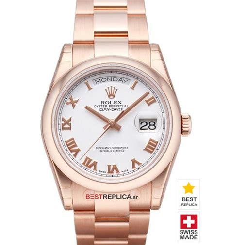 Rolex Rantai Combiwhite rolex day date 18k everose gold white bestreplica sr