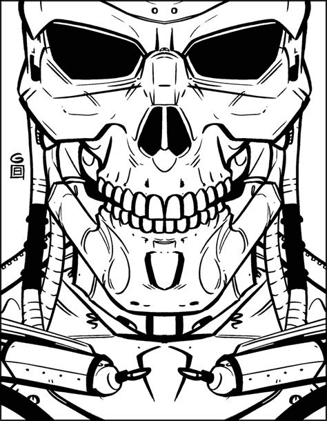 free coloring pages of coloriage terminator