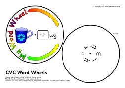 Cvc Co Puspita Blue cvc word wheels initial sounds sb3065 sparklebox