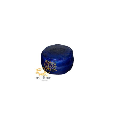 blue pouf ottoman buy the best leather moroccan ottomans blue