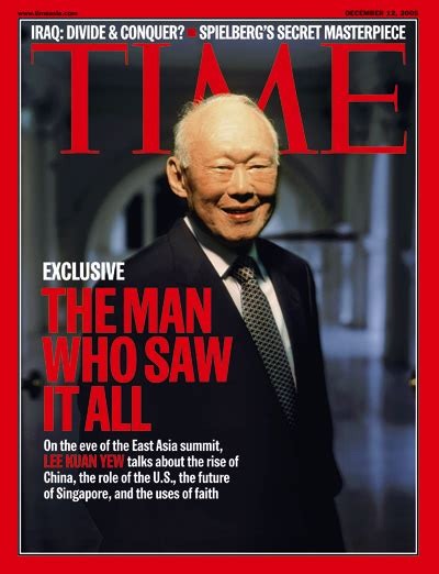 lee kuan yew the critical years 1971 1978 time magazine asia edition december 12 2005 vol